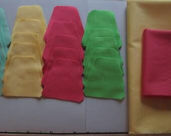 Quilt Kit Baby Tumbler Blocks, Pre-cut Quilt Kit, Kona Solid Fabrics, Pre-cut Quilt Blocks, Baby Quilt Kit, Pink, Green, Aqua, Yellow Quilt