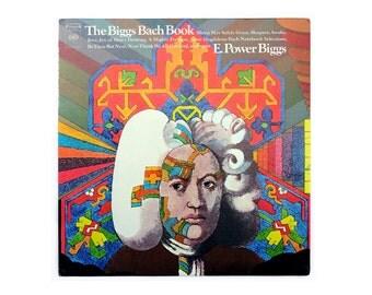 """Milton Glaser record album design, c.1969.  """"The Biggs Bach Book"""" LP"""