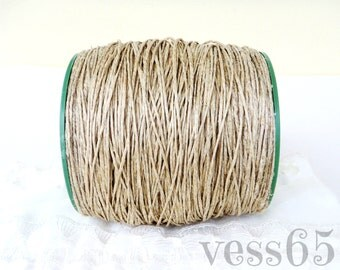 Natural Hemp Twine Cord, Unbleached Hemp Thread, Thick Hemp Rope Cord, Hemp String, 1-2mm diameter, 25 Yards/ 75 Feet - 1 piece