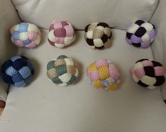 Custom Hand Knit Rattle Ball