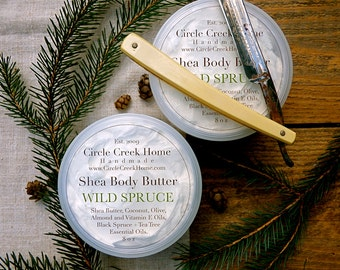 Wild Spruce After Shave Shea Butter  - Handmade by Circle Creek Home