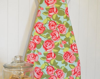 NEW!  Designer Ironing Board Cover - Amy Butler Love Tumble Roses Pink