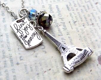 Journey Paris. Jewelry, Handmade Necklace, Eiffel Necklace, Paris Necklace
