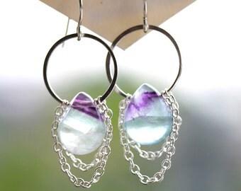 Fluorite Drape Earrings