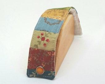 Boho Fabric Bracelet Bohemian Style Quilt Cuff Bracelet Adjustable Fabric Cuff Bracelet