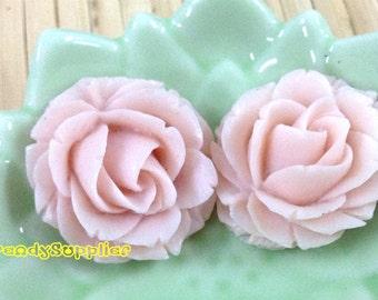 4 pcs 25mm Beautiful Baby Pink Rose Cabochon (002S)
