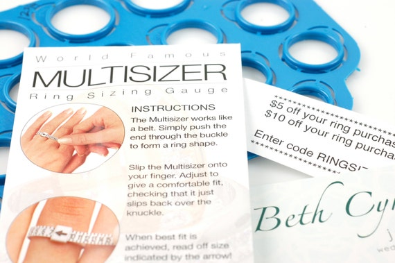 Ring Sizer Combo pack - US sizes 1 to 17 including half sizes