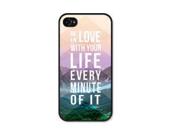 iPhone 6 Case Chevron iPhone 5 Case iPhone 5c Case iPhone 6 Plus Kerouac Inspirational Quote Be in Love With Your Life Chevron iPhone 6 Case