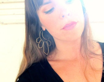 Holy Moonbeam Hoops In Brass