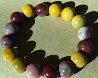 Mookite Jasper stretch bracelet
