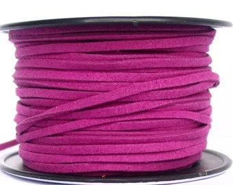3m / 6m Purple 2.7mm Faux Leather Suede Lacing Dazzle It brand - PICK quantities
