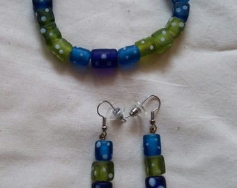 Lucky Dice Bracelet and Earrings