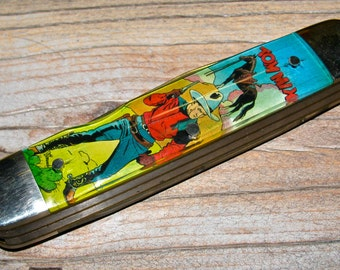 Vintage TOM MIX and The Riders of the Silver Screen Camillus Novelty Pocket Knife