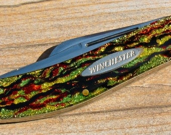 WINCHESTER Sowbelly Pattern Pocket Knife / Christmas Tree Handles II