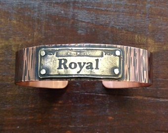 Royal Street Sign Cuff Bracelet