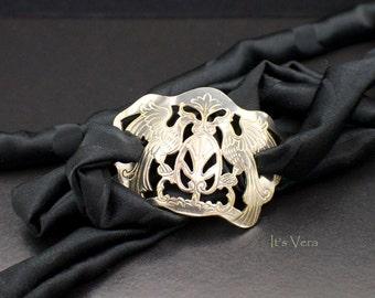 Wrap bracelet, silk wrap bracelet, elegant chic, Boho wrap bracelet, friendship bracelet, modern art jewelry, gypsy fashion, yoga bracelet