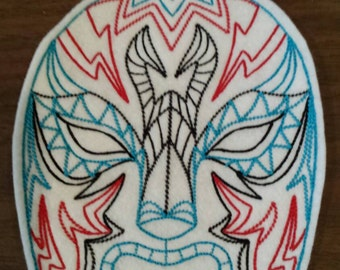 Luchador mask embroidered iron on patch