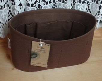 Wide Oval / 4 sizes available / Purse ORGANIZER insert / Stiff wipe-clean bottom / Interior pockets / STURDY / You choose the color