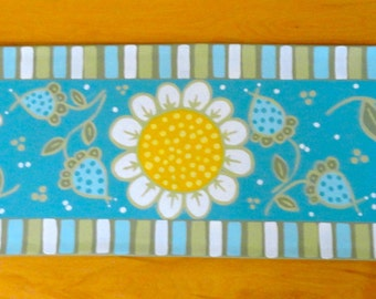Blue Garden-Hand Painted Table Runner