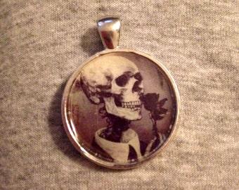 Romantic Skeleton Date Image Pendant Necklace-FREE SHIPPING-