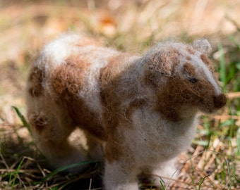 Australian Shepherd - 100% wool - needle felted miniature dog sculpture
