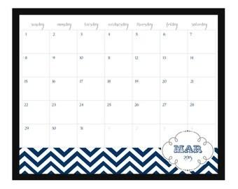 popular items for chevron calendar on etsy