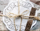 50 Rose Flower Lace Paper Doilies Ver. 2 (4in)