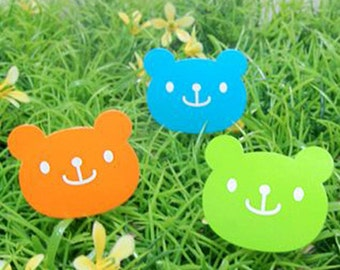 36 Colorful Smile Bear Stickers (1.2 x 1in)