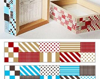 2 Set - Various Check Adhesive Masking Tapes (0.6in)