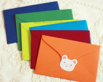 6 Colorful Mini Envelopes (4.1 x 2.7in)
