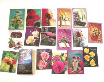 Vintage Photo Printed Greeting Cards, 17 Unused Cards