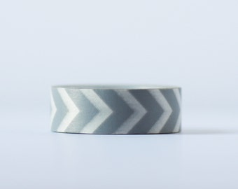 Grey Angle Washi Tape-  Single Roll 15 mm x 10 m