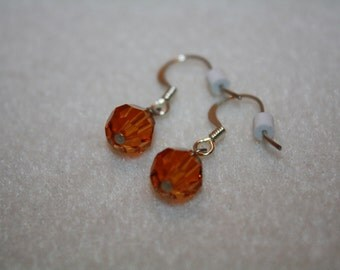 Topaz November Swarovski Crystal Birthstone Earrings