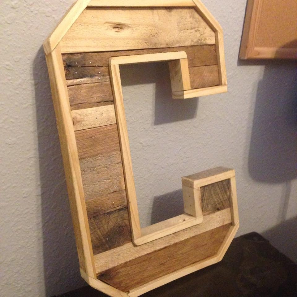custom wood pallet letters With pallet letters