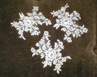 Vintage French Chantilly Lace Appliques