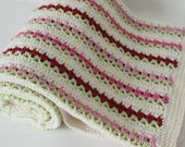 Baby Girl --Handmade Thin Baby Blanket -Baby Shower Gift -   Photography Prop - Stroller Blanket - Multicolor Crib Blanket -