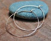 Thin Rose Gold Hoop Earrings - M, L, XL, XXL