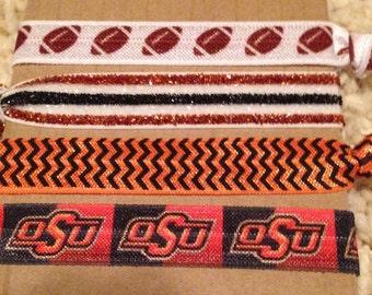 OSU Elastic Hair Ties/Wristlets Set of 4