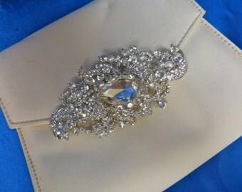 Rhinestone Pin, Bridal Brooch, Bridal Pin, Wedding Brooch, Wedding Pin, Swarovski Brooch, Swarovski Pin, Rhinestone Brooch