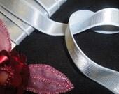 "5/8"" wide stunning azure blue plush back linger satin elastic / azure blue stretch satin ribbon"