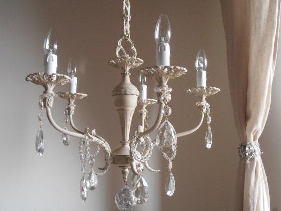 Saldi lampadario color avorio vintage anni di milanchicchandeliers