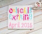 Only Child Expiring Shirt - Big Sister Birth announcement - Big Sister Shirt