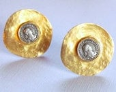 Valentino Gold Coin Earrings