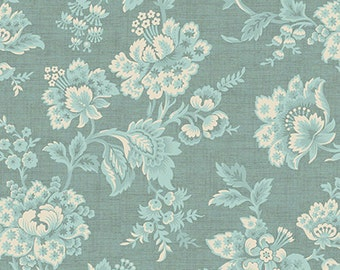 Vintage from Andover Fabrics - Soft Blue and Cream Jacobean Floral