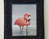 "ORIGINAL Surreal Oil Painting by Liese Chavez, ""Tie in the Soup"""