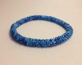 Crochet Bead Bracelet- Tundra