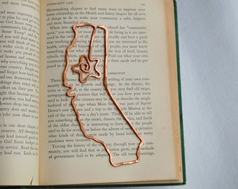 Sacramento, California bookmark or ornament in salvaged copper hand formed hand hammered