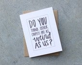 Greeting Card, Do You Think Other Couples are as Weird as Us Wedding Card Anniversary Card for Husband for Wife for Boyfriend for Girlfriend