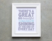 Art Print, Sign, There's A Great Big Beautiful Tomorrow, Shining at the End of Every Day, Carousel of Progress Poster, Art Print, Sign