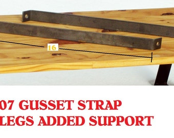 807 Gusset Strap to Brace Tall Metal Table TwinLegs Great for Sofa, Slab, Plant, Snowboard, Console, TV, Stiffen up your Furniture.